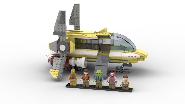 Lego Star wars padawan space schoolbus extension MOC custom