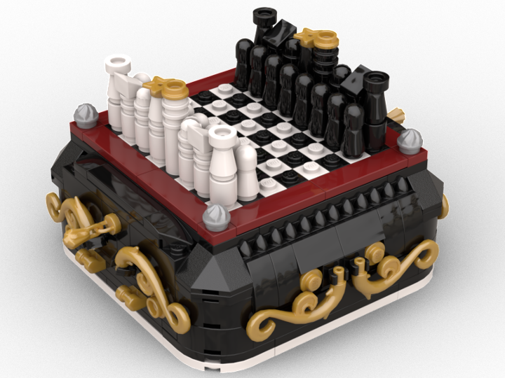 Steampunk Mini Chess] Play a game of chess using a portable board