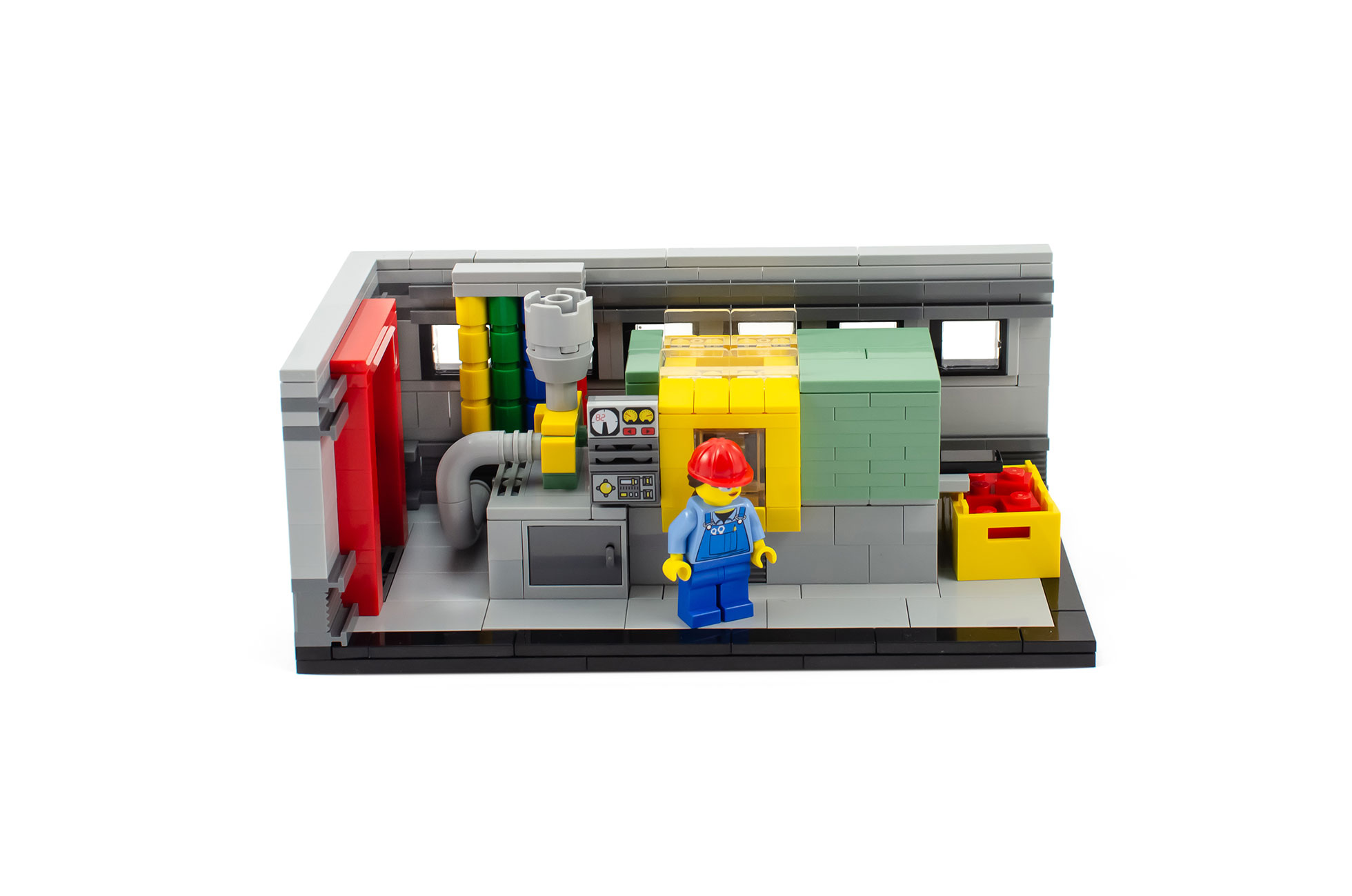 The Lego Story Build The History Of Lego From The Original Factory To A Designer S Office Bricklink