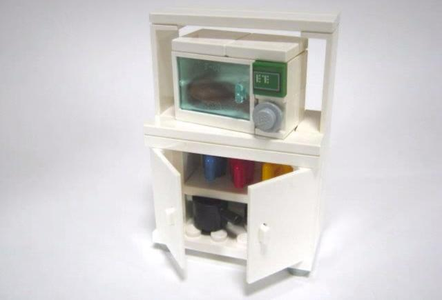Microwave And Kitchen Cabinet By Masao Hidaka