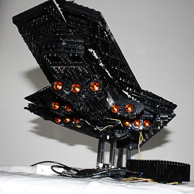 10221 Super Star Destroyer Black Dual Led
